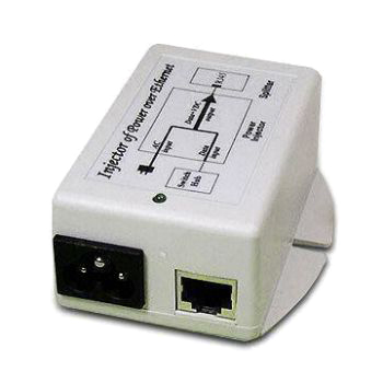 PoE Injector with 24V/0.8A Output on Spare Pairs 4/5 Negative or 7/8 Positive and Current Indicator