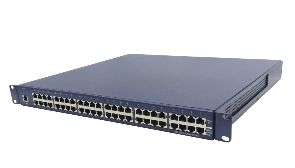 24-port Gigabit PoE Injector with Centralized Power Distribution, Compliant 802.3at as 35W/Port