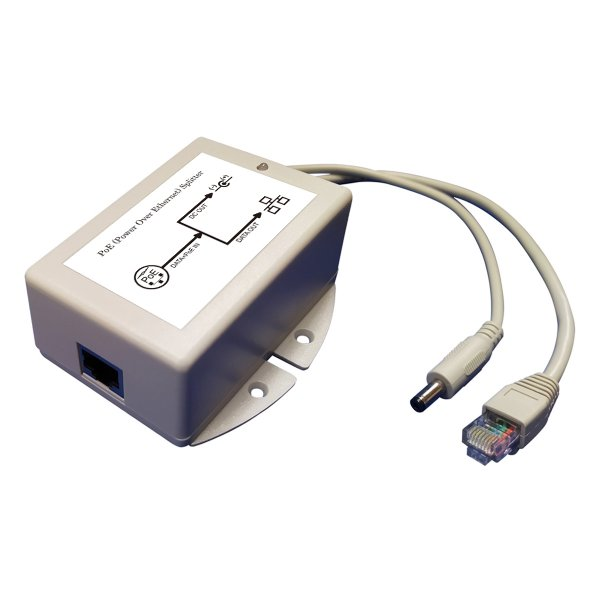 25W 24V DC 802.3at Standard PoE Active Splitter with Isolation and Short-circuit Protection