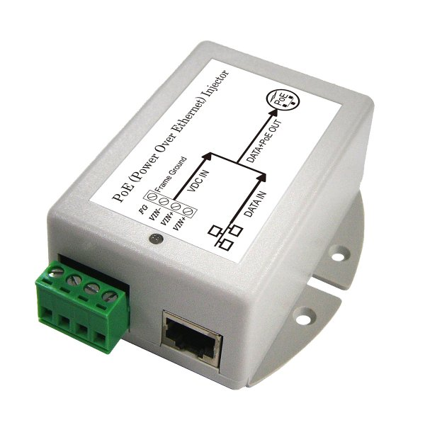 DC/DC PoE Injector with 9 to 36V DC Input Voltage and 24V/0.8A Maximum Load