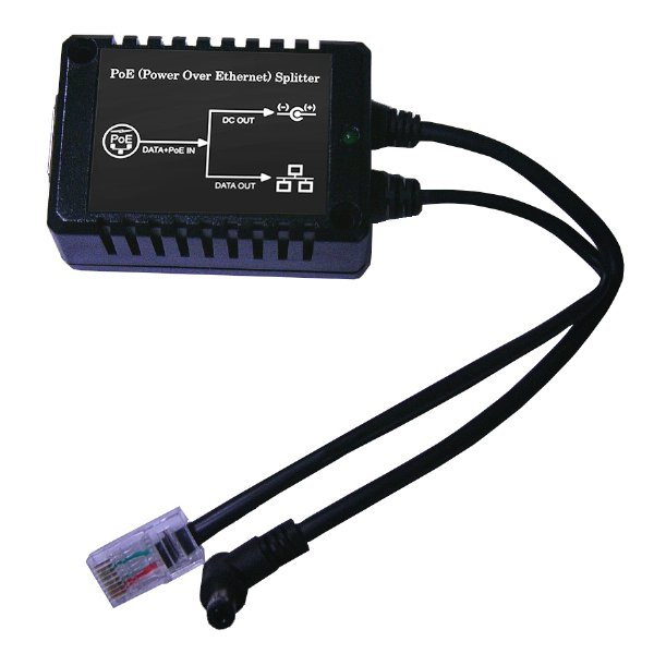 12W 802.3af Standard PoE Active Splitter with Input of 30 to 60V DC