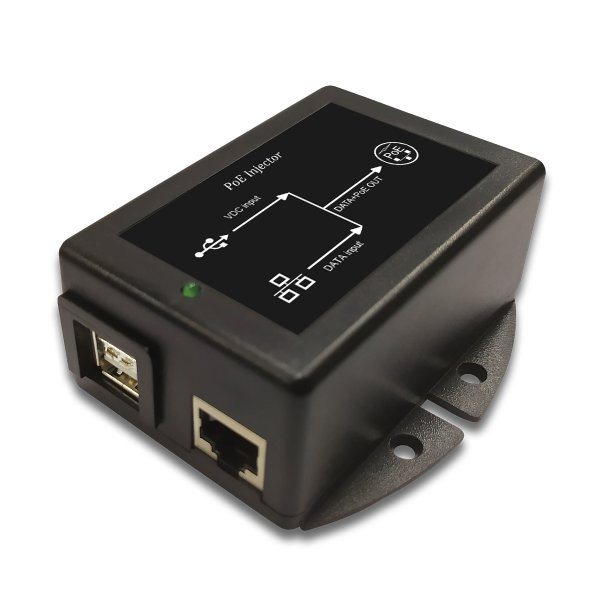 DC/DC PoE Injector with dual 5VDC USB Input and 48V 12W PoE output